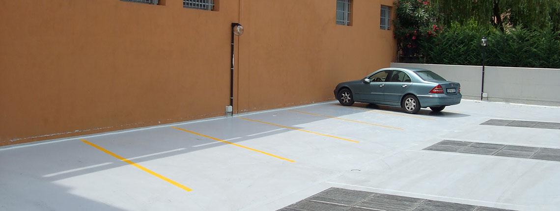 Impermeabilizzazione di un parcheggio realizzata da Resin System