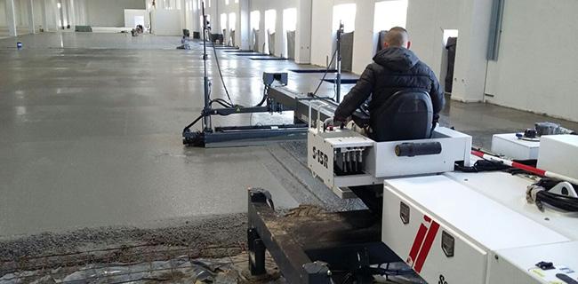 pavimenti industriali in calcestruzzo con tecnologia laser screed