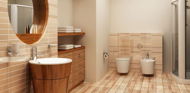bagno realizzato con rivestimenti in ceramica
