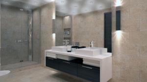 Pavimento e rivestimento bagno ceramica piastrelle resinsystem