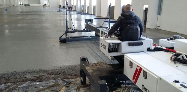 tecnologia laser screed per lavorazione calcestruzzo