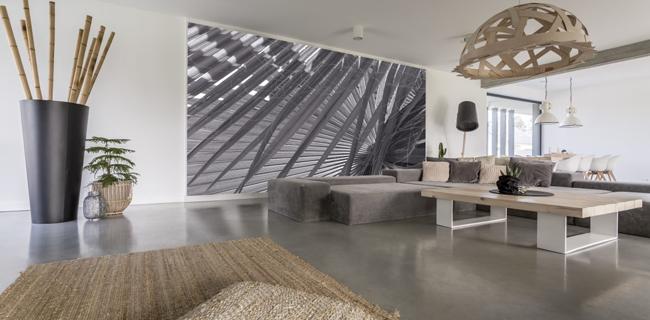 pavimenti in resina per il salotto