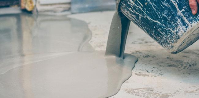 immagine di posa della resina