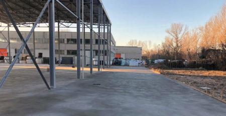pavimento in cemento da esterno