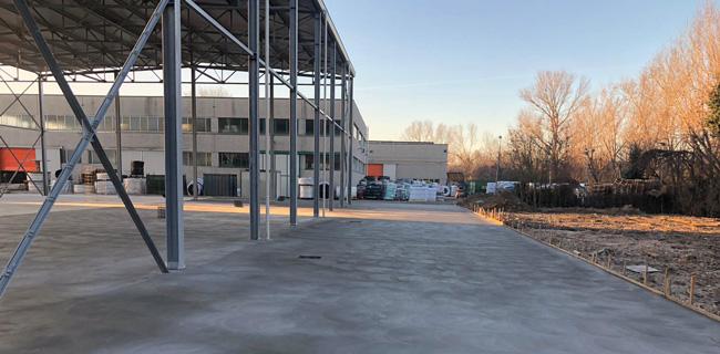pavimento industriale in cemento da esterno
