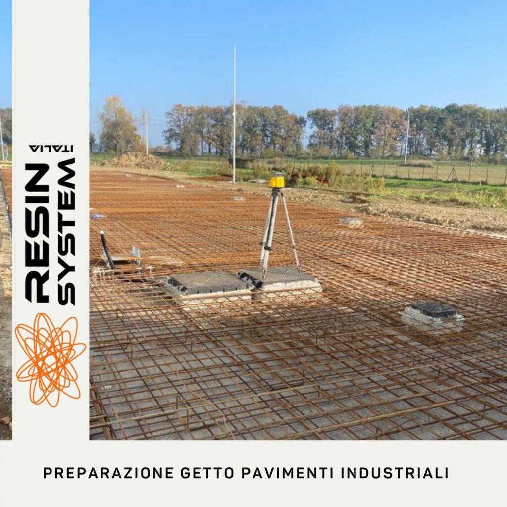 Preparazione getto pavimenti industriali