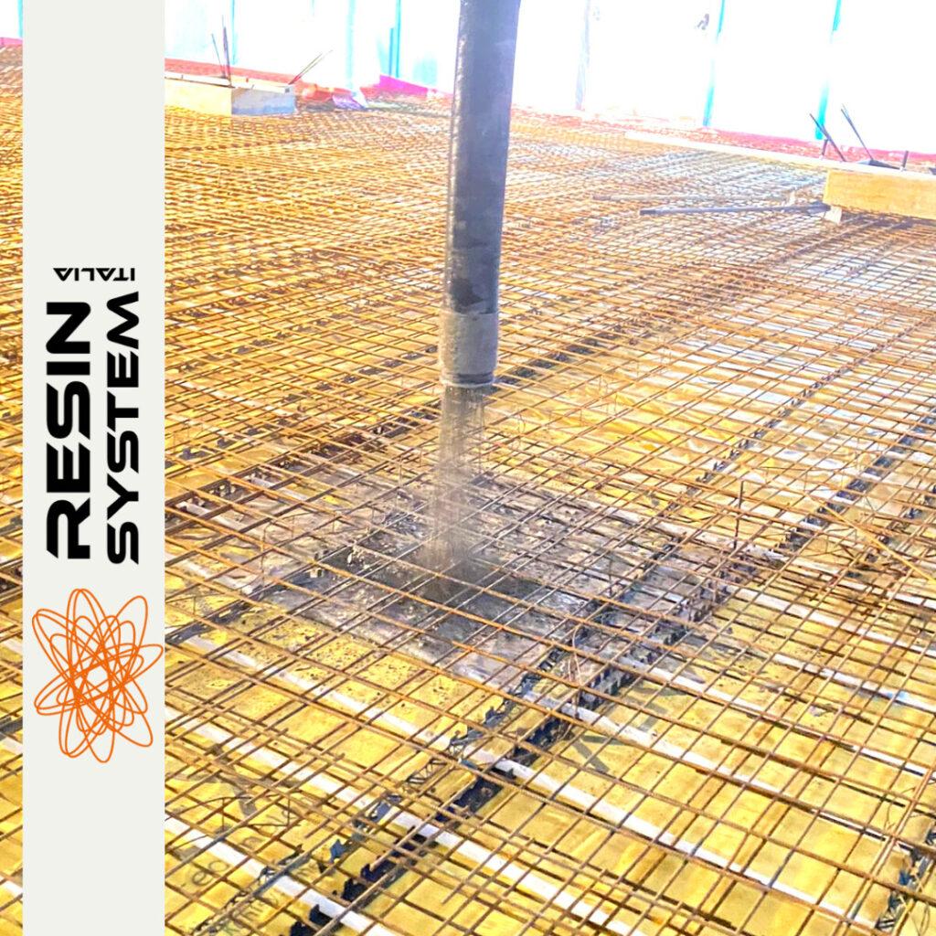 Preparazione di pavimentazione in cemento a Modena 