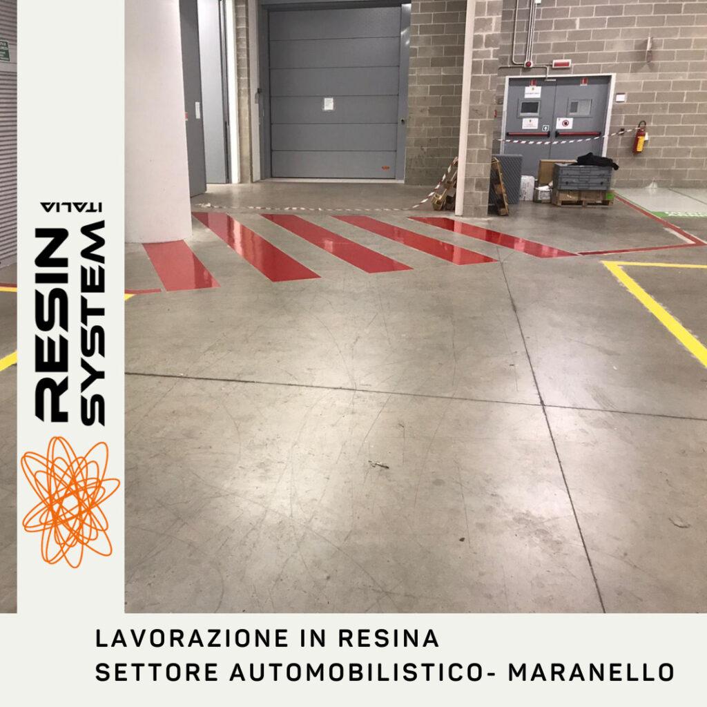 Lavorazione in resina settore automobilistico Maranello