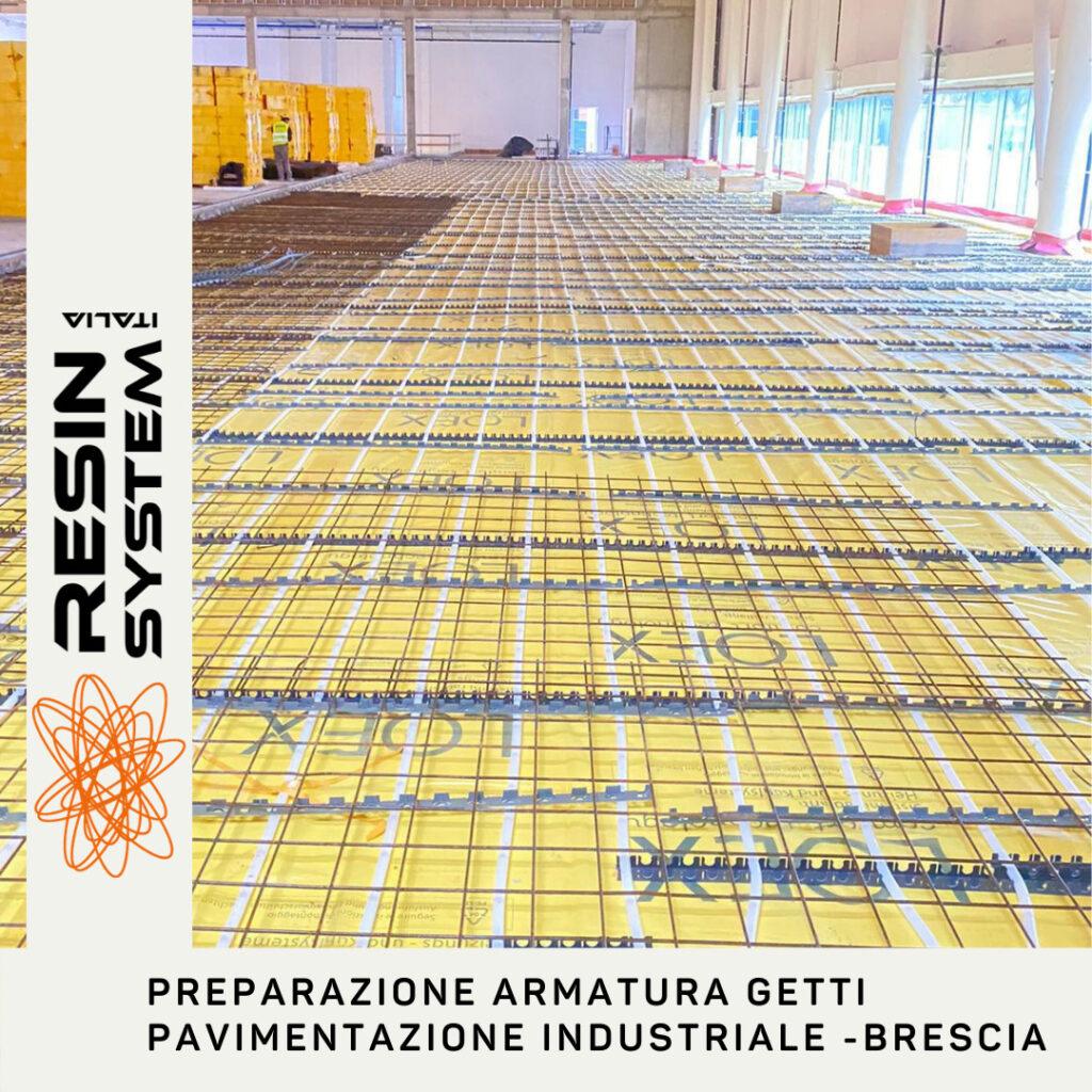 Preparazione armatura getti per pavimento industriale in calcestruzzo