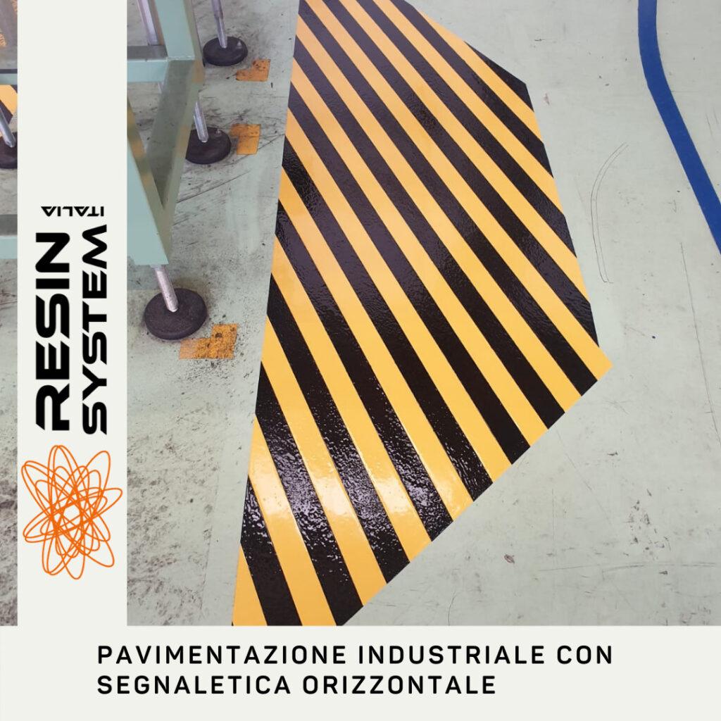 Pavimentazione industriale con segnaletica orizzontale (2)