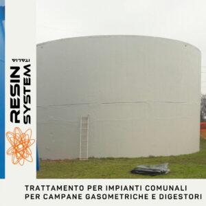 Trattamento impianti comunali per campane gasometriche e digestori