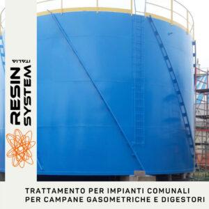 Trattamento per impianti comunali per campane gasometriche  e digestori